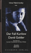 Der Fall Kurilow. David Golder